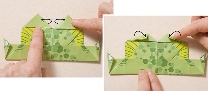 اوریگامی دایناسور مرحله ۱۸