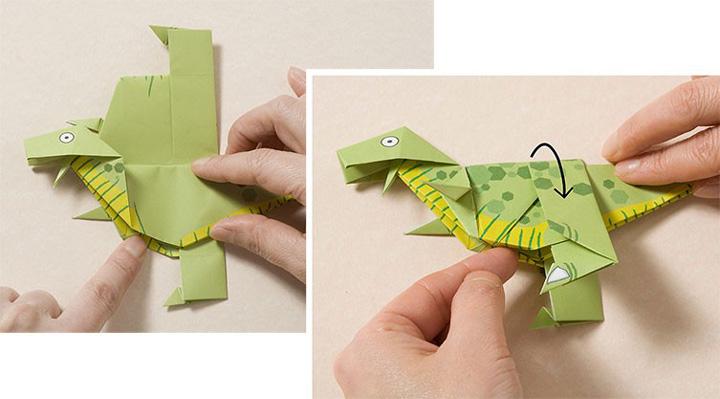 اوریگامی دایناسور مرحله ۲۰