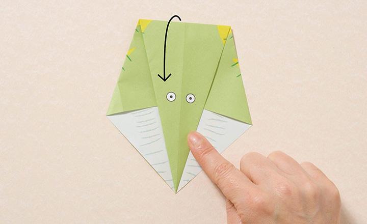 اوریگامی دایناسور مرحله ۳