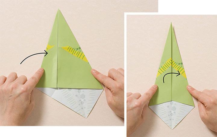 اوریگامی دایناسور مرحله ۲
