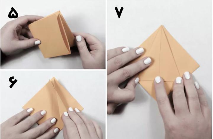 اوریگامی جعبه مرحله ۲