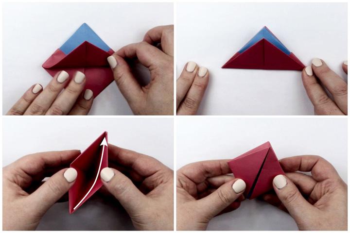 اوریگامی قایق مرحله ۴