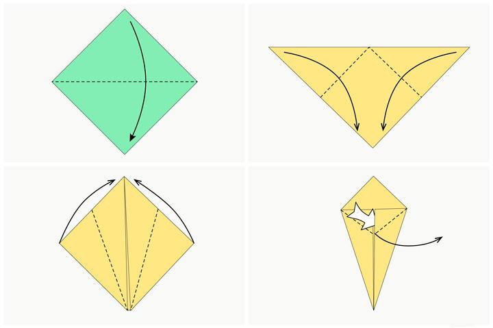 اوریگامی خرگوش مرحله ۱
