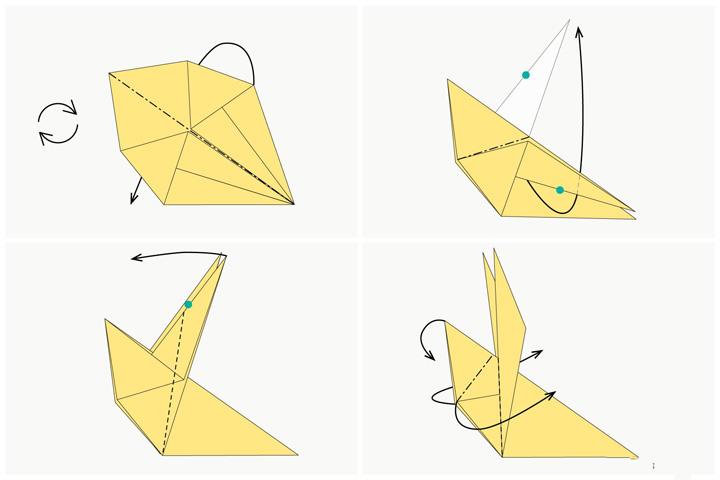 اوریگامی خرگوش مرحله ۲