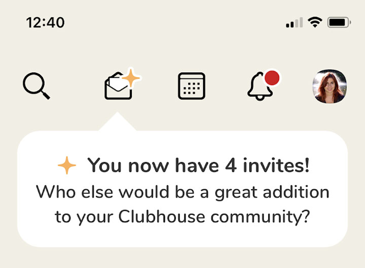 دعوت کردن دیگران به کلاب هاوس