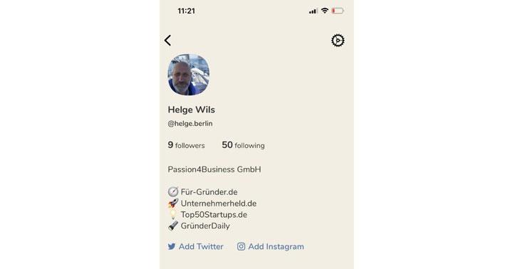 شخصی سازی صفحه حساب کاربری در کلاب هاوس