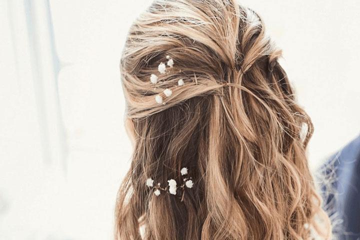 مدل موی تابستانه ـ گل در میان موها