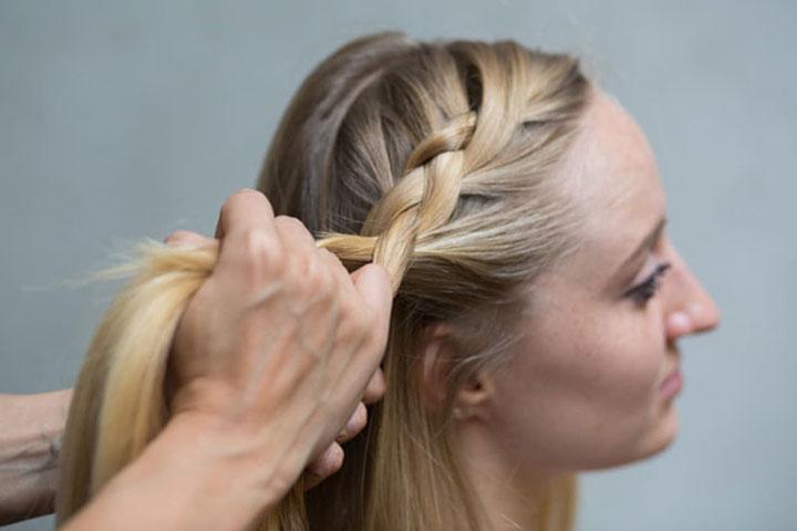 مدل موی تابستانه ـ بافت از کنار