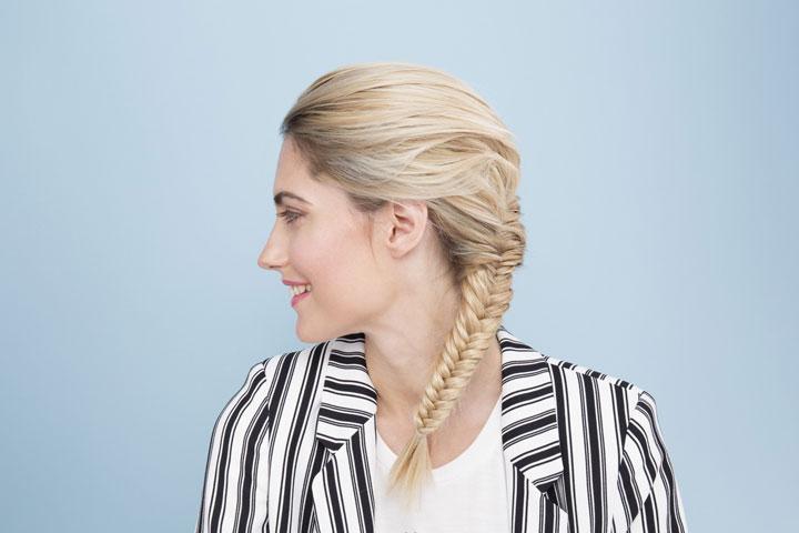 مدل موی تابستانه ـ بافت تیغ ماهی