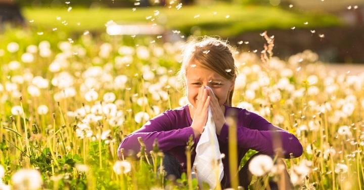 آلرژی میان گلها