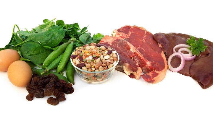 غذاهای غنی از آهن برای جلوگیری از عارضه ناخن قاشقی