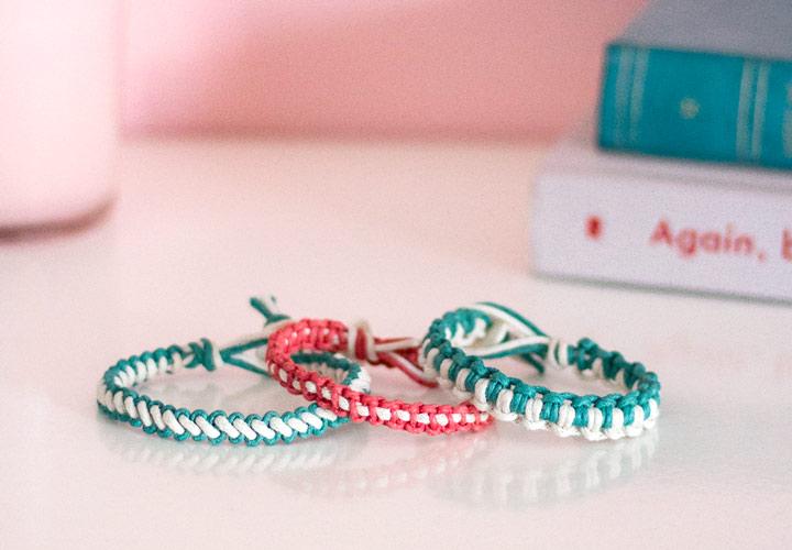 مکرومه بافی - دستبند مکرومه