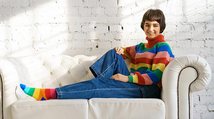 جوراب رنگی برای افراد افسرده