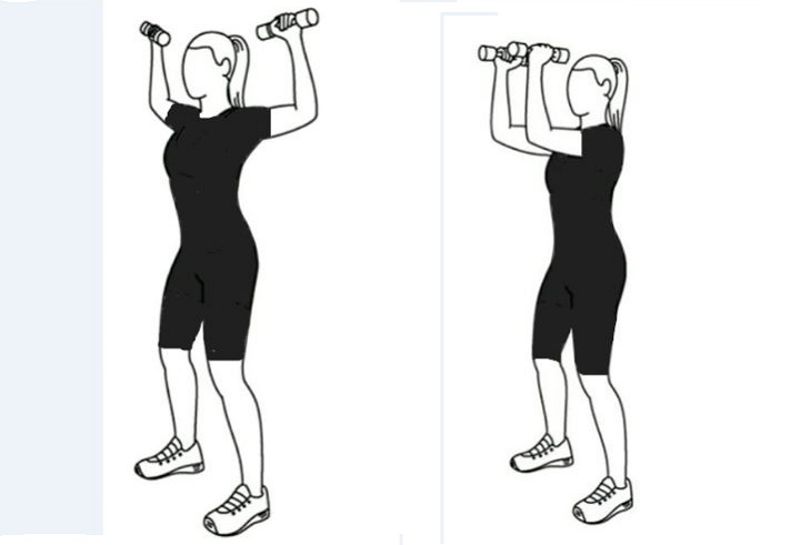 ورزش برای خوش فرم شدن سینه - حرکت فشردن آرنج ها