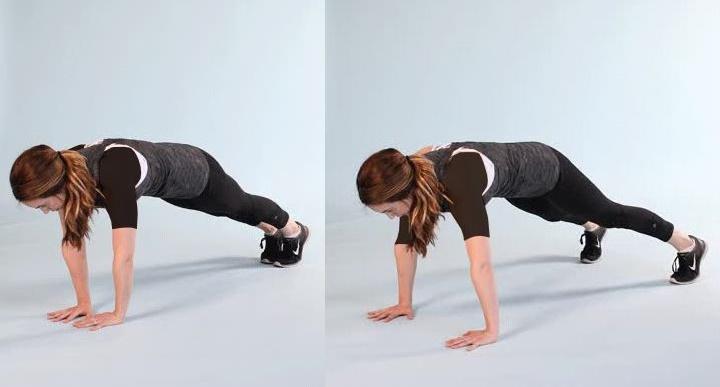 ورزش برای خوش فرم شدن سینه - پلانک متحرک
