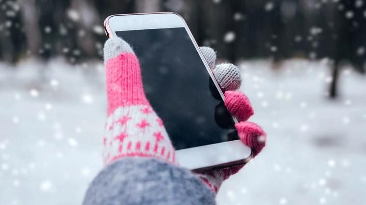 قرار دادن گوشی در معرض سرما